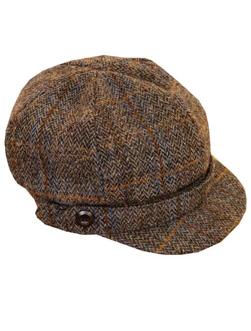 Harris Tweed Baker Boy Hat