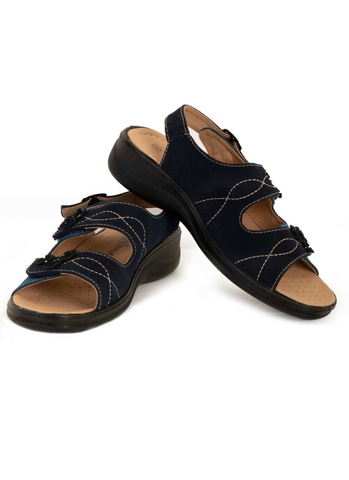 Navy Touch Close Sandal