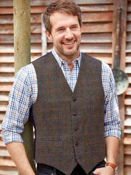 Brown Harris Tweed Bute Waistcoat