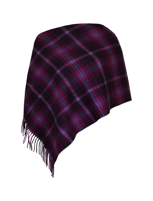 Lambswool Check Stole