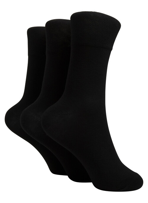 Plain Black 3 Pack Socks
