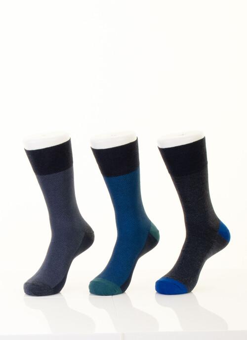 Blue 3 Pack Design Socks