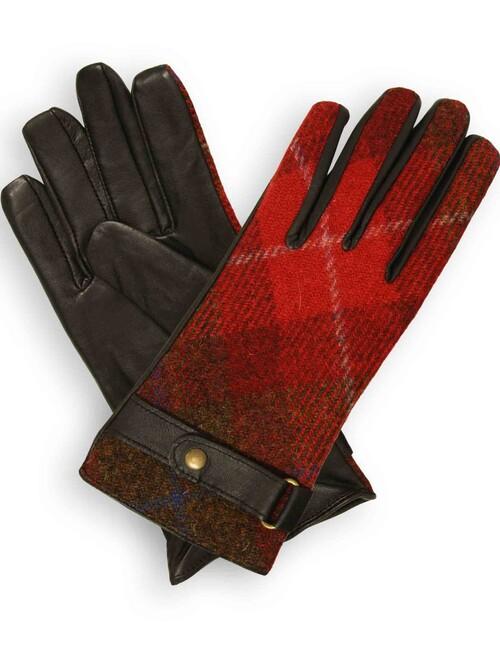 Check Harris Tweed Gloves
