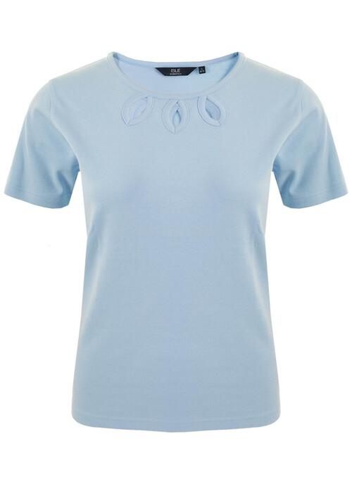 Blue Keyhole T Shirt