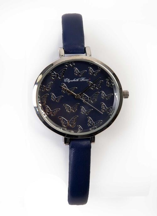 Navy Butterfly Watch