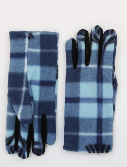 Tartan Check Gloves