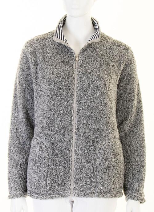 Grey Marl Textured Fleece
