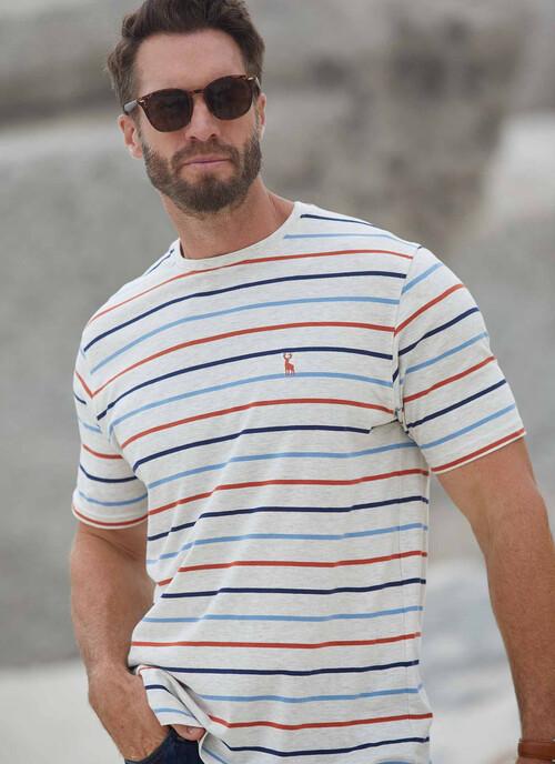 Ivory Stripe T Shirt