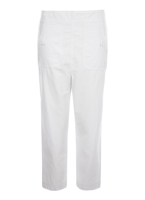 Ivory Crop Trousers