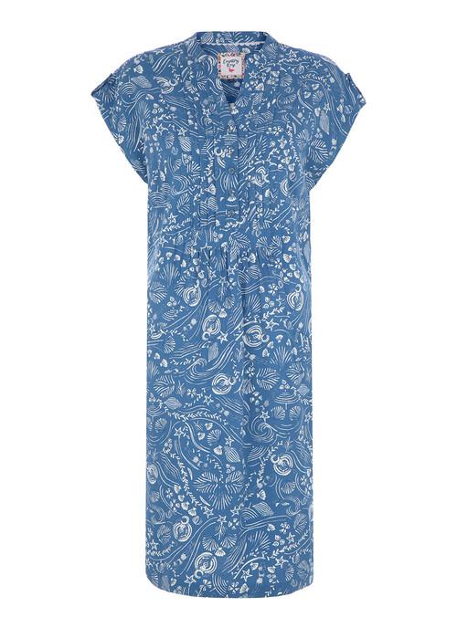 Blue Lido Midi Dress