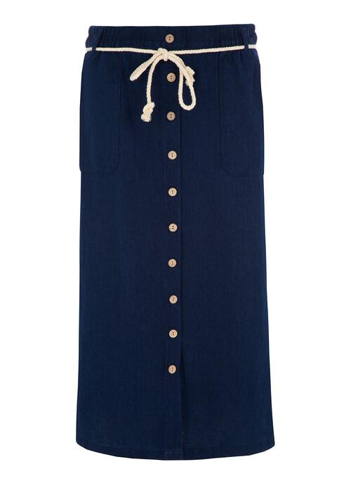 Indigo Pull On Skirt Length 30 Inches