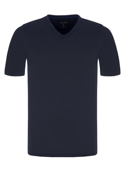 Dark Navy V Neck T Shirt