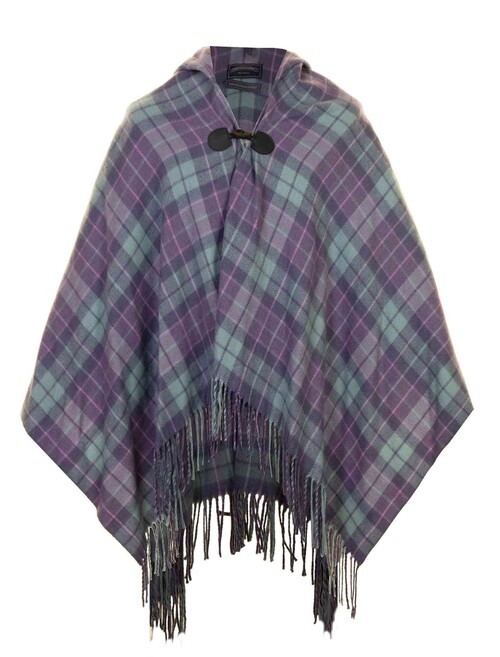 Hooded Check Wrap