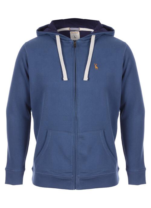 Blue Zip Through Hoody