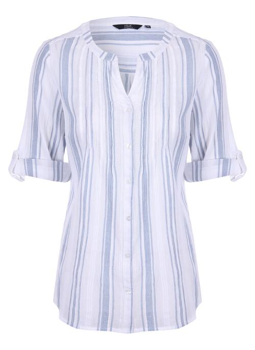 Blue Stripe Cotton Blouse