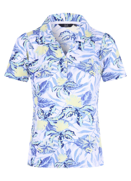 White Print Polo Shirt