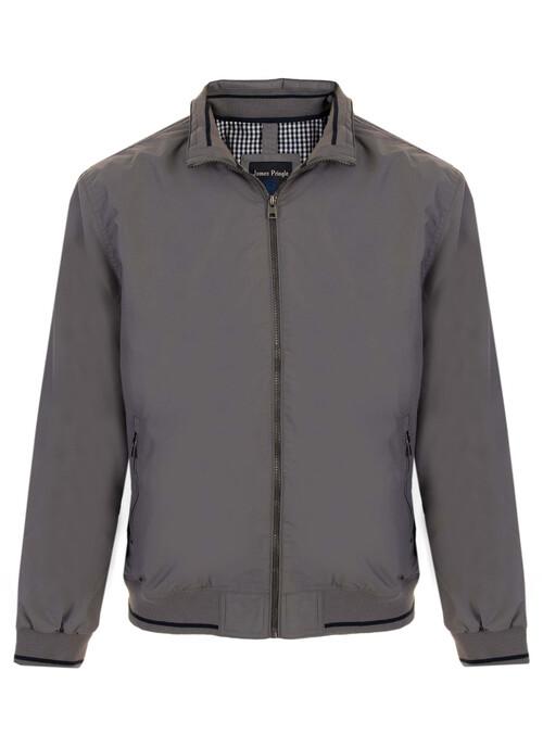 Grey Zip Front Jacket