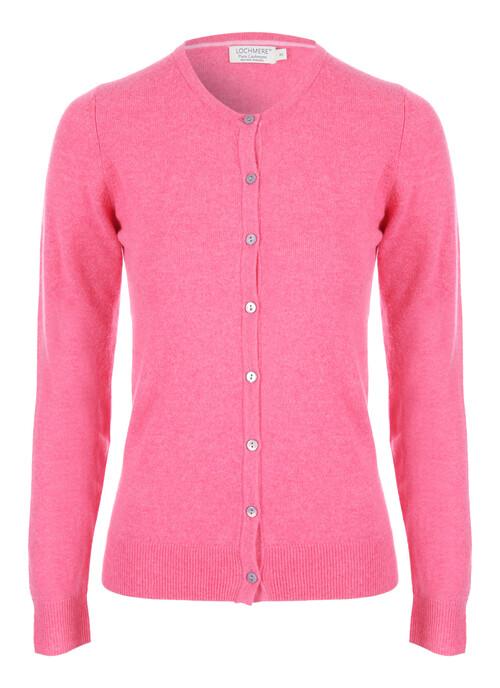 Bright Pink Cashmere Cardigan