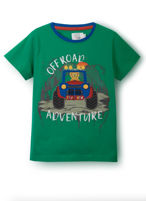 Bright Green T-SHIRT OFF ROAD ADV  2-4 Years
