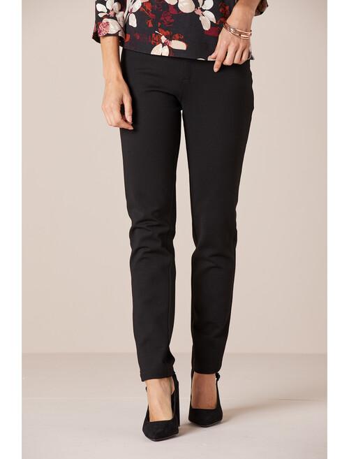 Black Black Stretch Ponte Jean 29 Inch