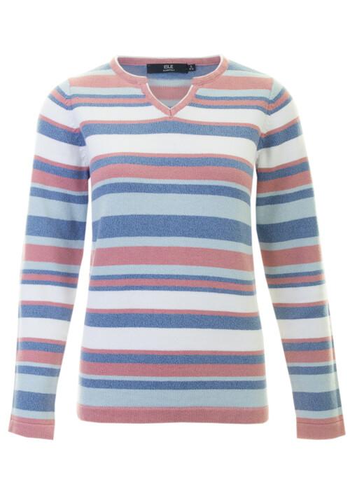 Pink Cotton Stripe Jumper