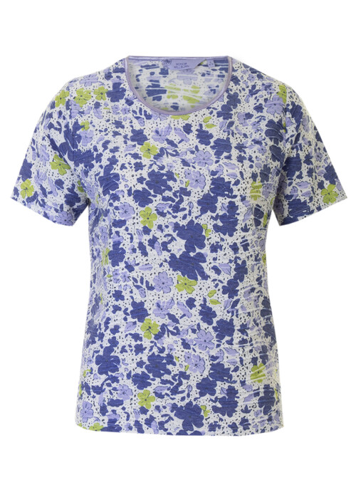 Blue Print T Shirt