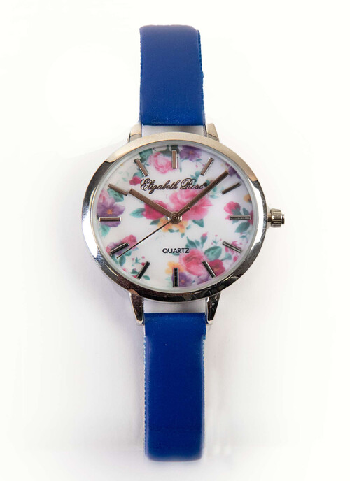 Blue Floral Watch