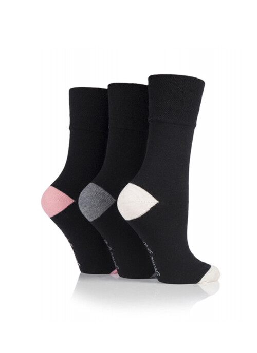 Ladies Black 3 Pack Socks