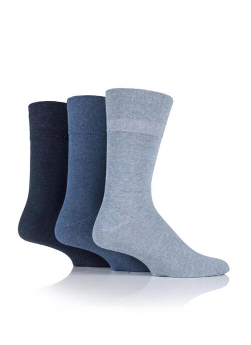 Mens Blue 3 Pack Diabetic Socks