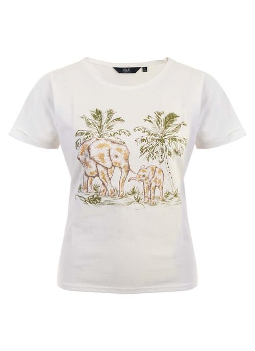 Ivory Print T Shirt