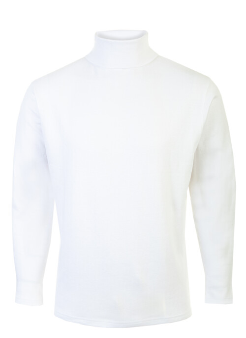 White Roll Neck Top