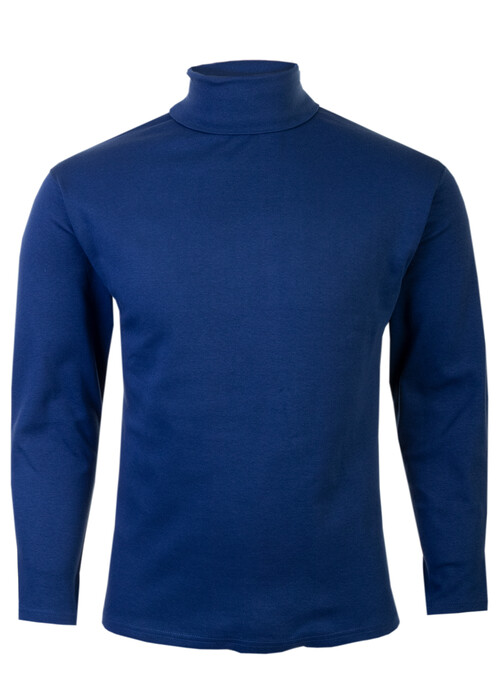 Blue Roll Neck Top