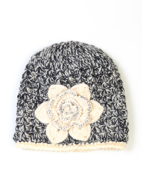 Knitted Corsage Trim Hat