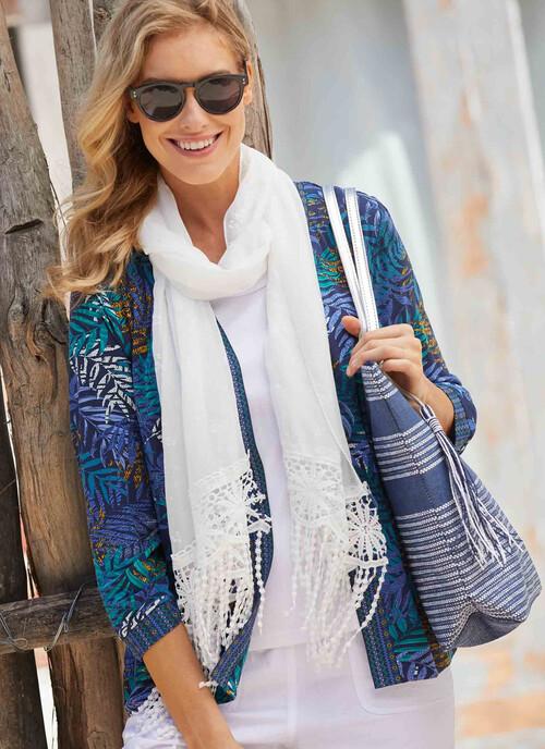 Navy Stripe Shopper Bag