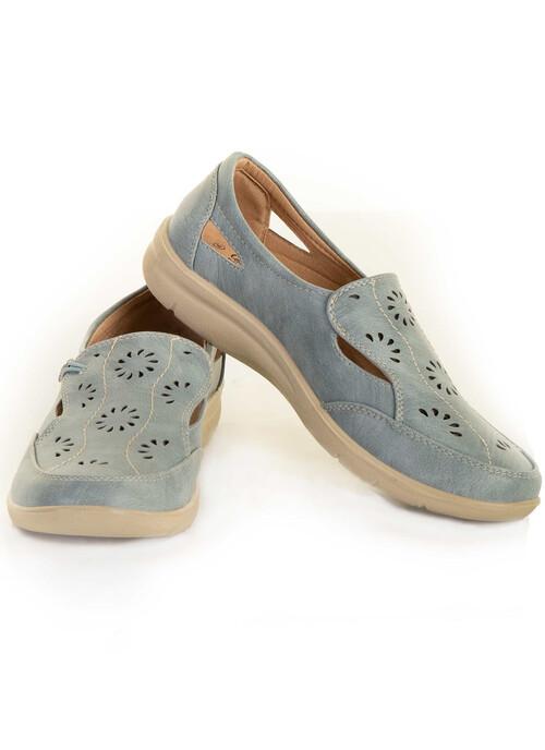 Blue Button Detail Shoe