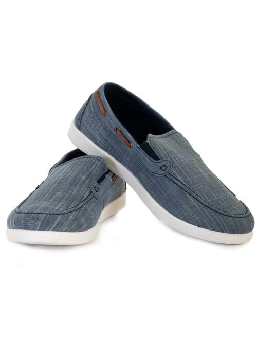 Blue Mens Slip On Shoe