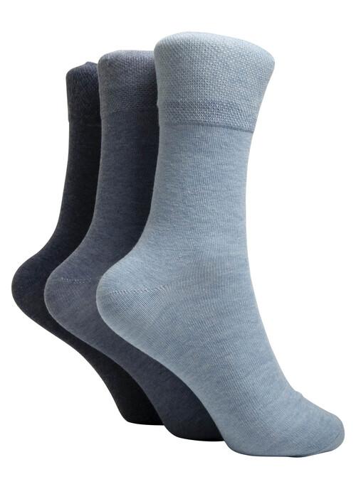 Blue 3 Pack Socks
