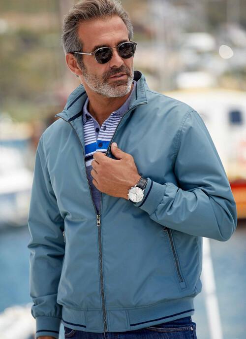 Blue Zip Front Jacket