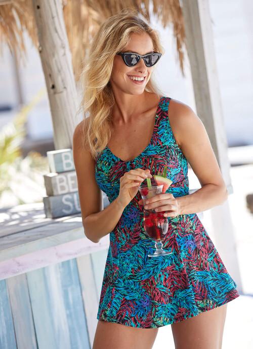 Aqua Fern Shape Enhancing Skirt Swimsuit